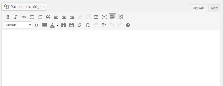 Screenshot WordPress Editor