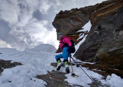 Anstieg auf das Eiskögele (3228 m)