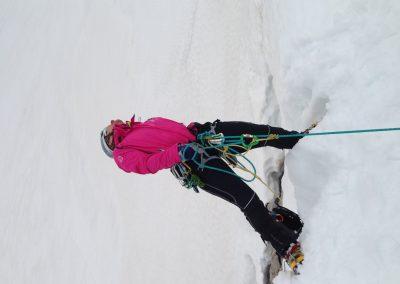 Spaltenbergeübung am Dachstein-Gletscher, Juni 2013