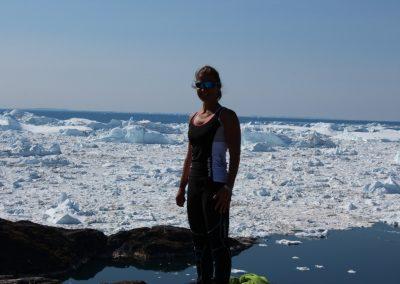 Barbara Haid mit Eisfjord von Ilulissat